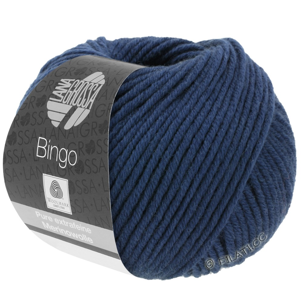 Lana Grossa BINGO  Uni/Melange | 147-mørkeblå