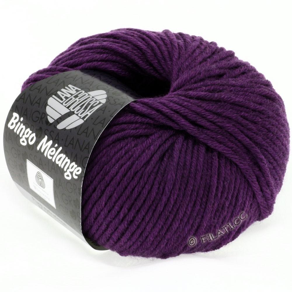 Lana Grossa BINGO  Uni/Melange/Print | 229-mørk violet meleret