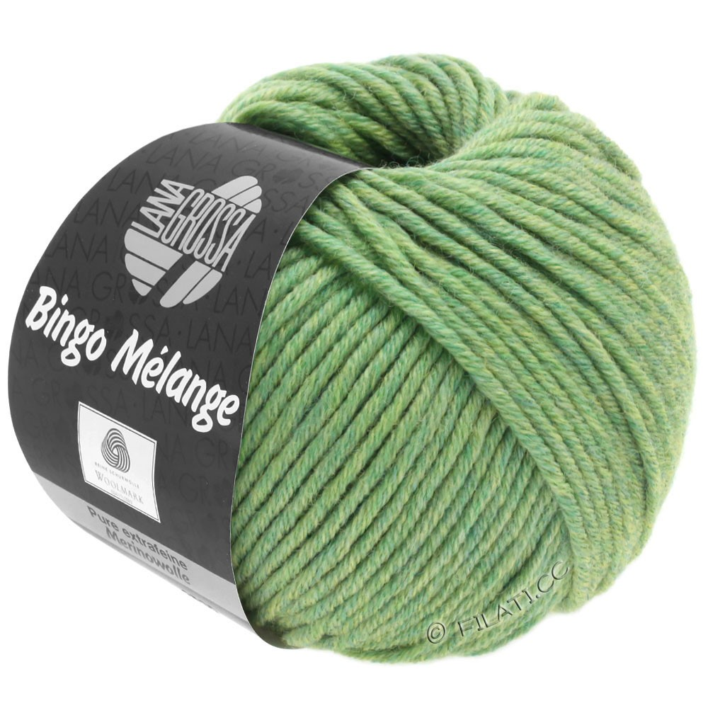Lana Grossa BINGO  Uni/Melange | 243-lysegrøn meleret