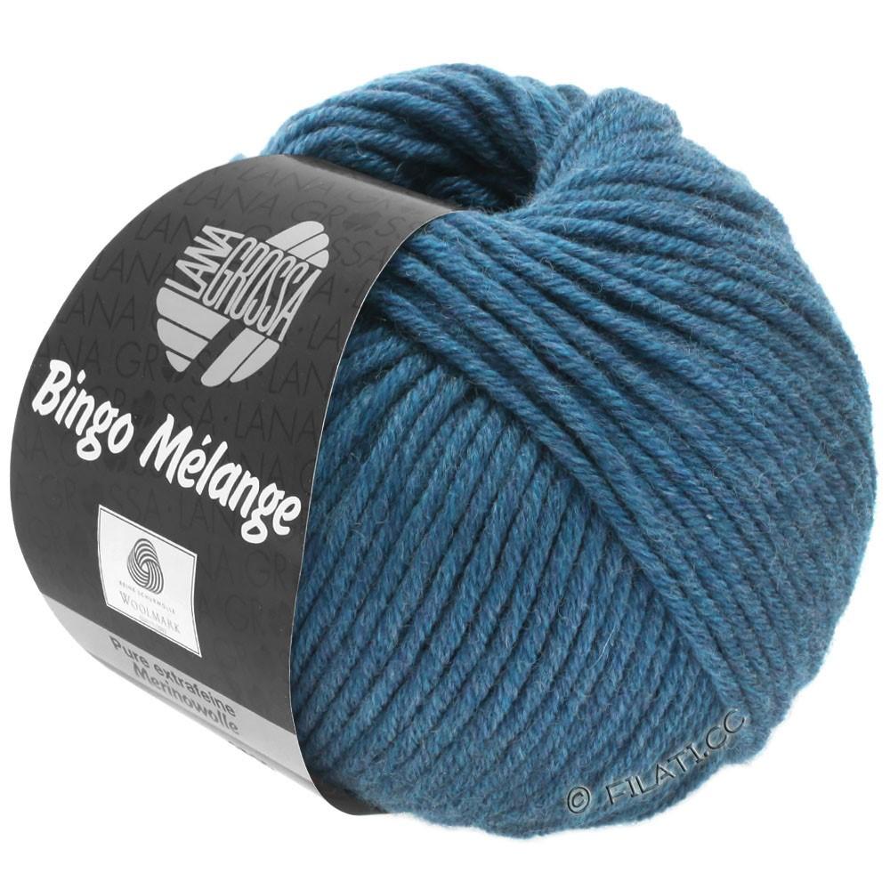 Lana Grossa BINGO  Uni/Melange | 244-mørkeblå meleret