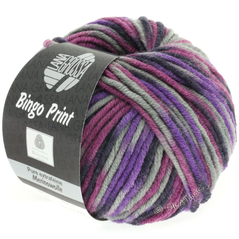 Lana Grossa BINGO Print | 332-violet/lysegrå/aubergine/hyldebær