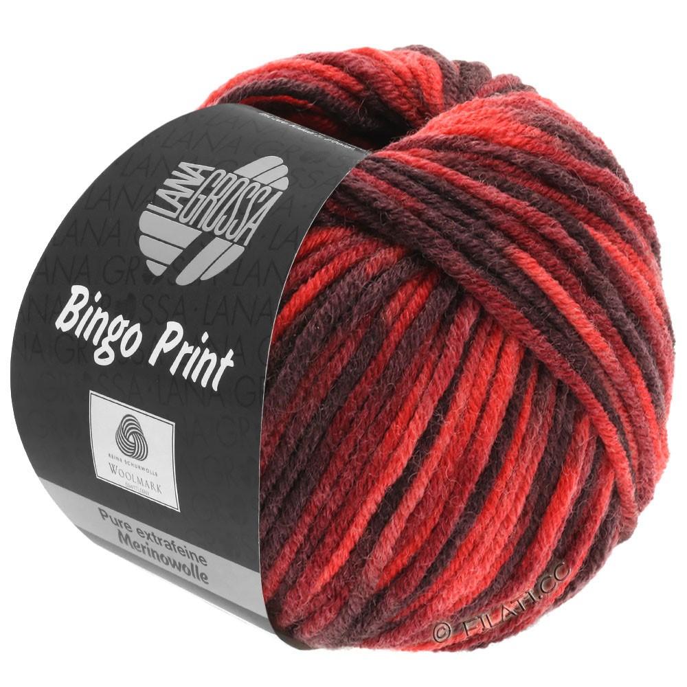 Lana Grossa BINGO Print | 366-rød/vinrød/burgund