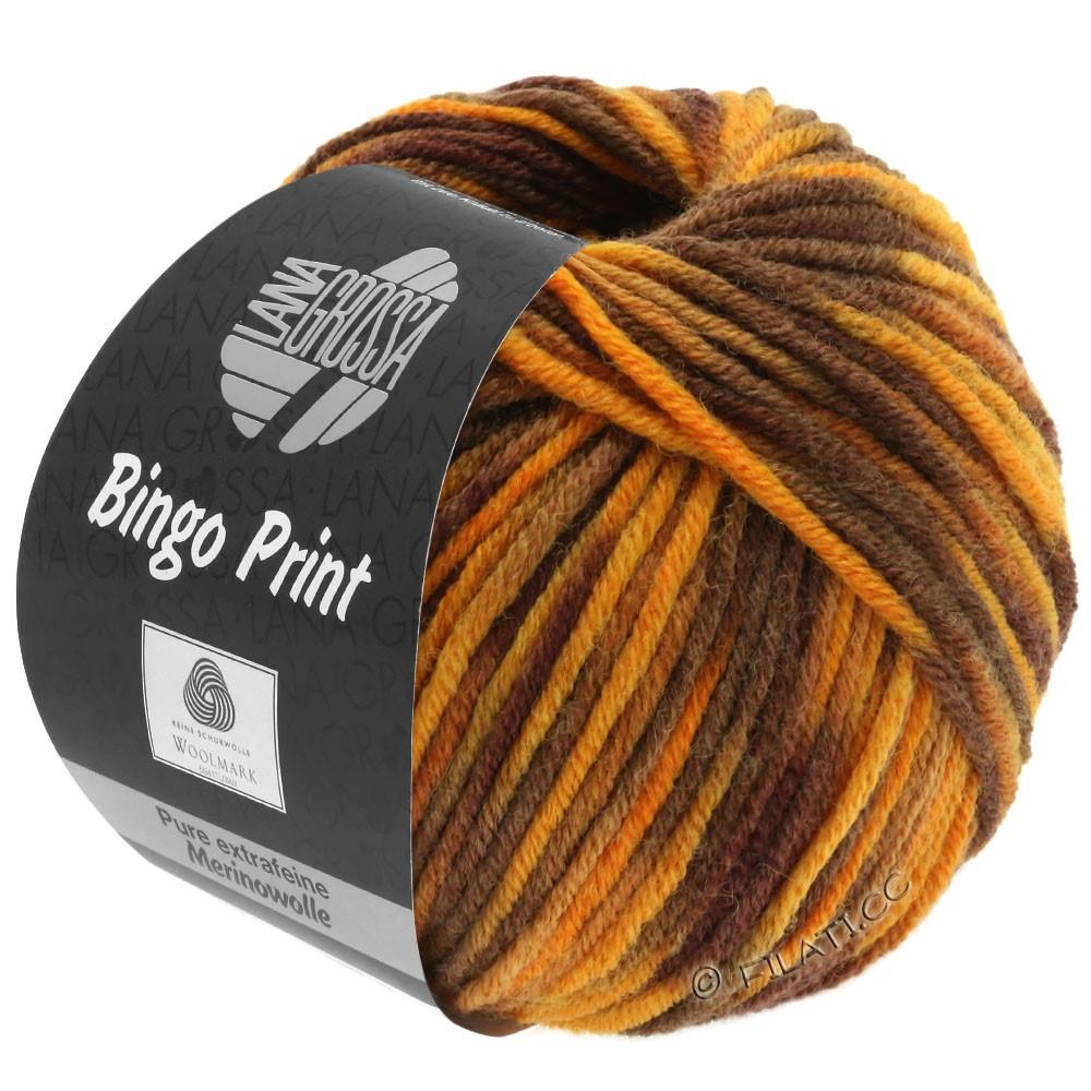 Lana Grossa BINGO Print | 369-rav/karamel/marone/mørkebrun