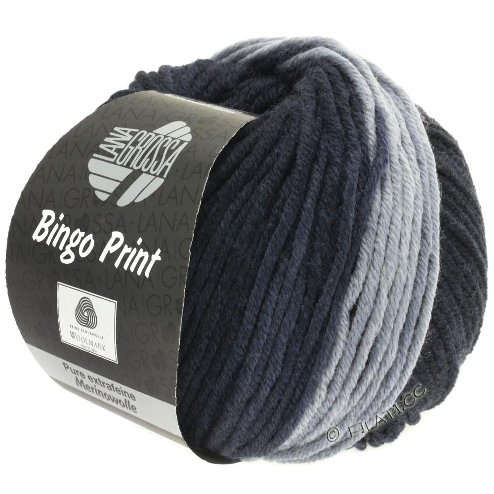 Lana Grossa BINGO Print | 605-lysegrå/stålgrå