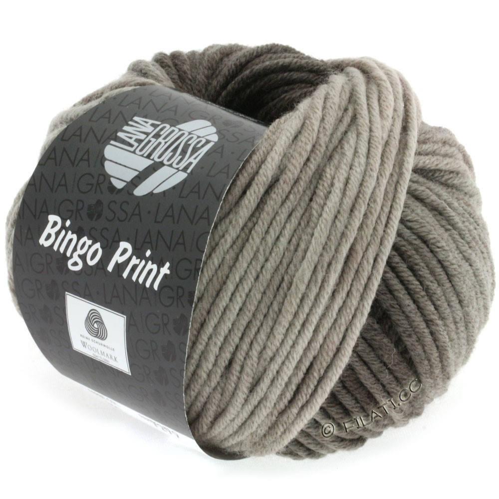 Lana Grossa BINGO Print | 607-grège/sortbrun