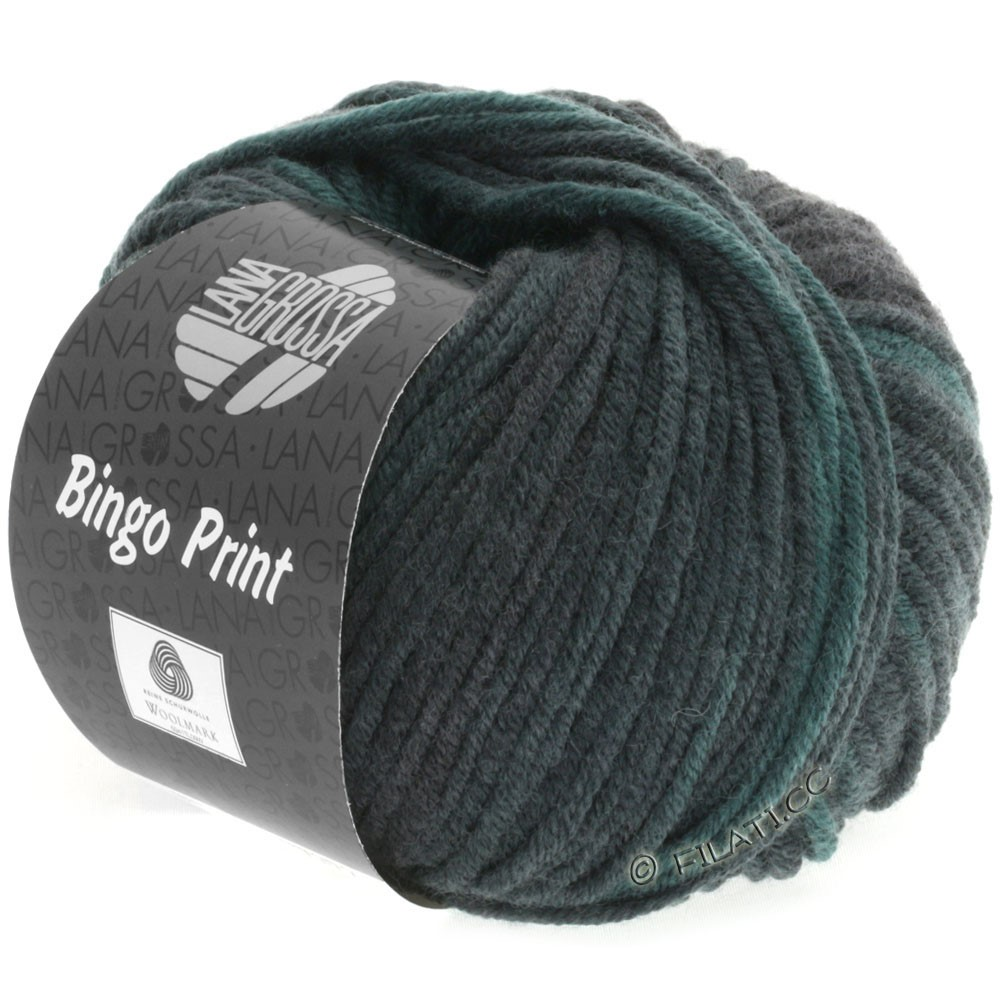 Lana Grossa BINGO Print | 611-gran/grågrøn/sort