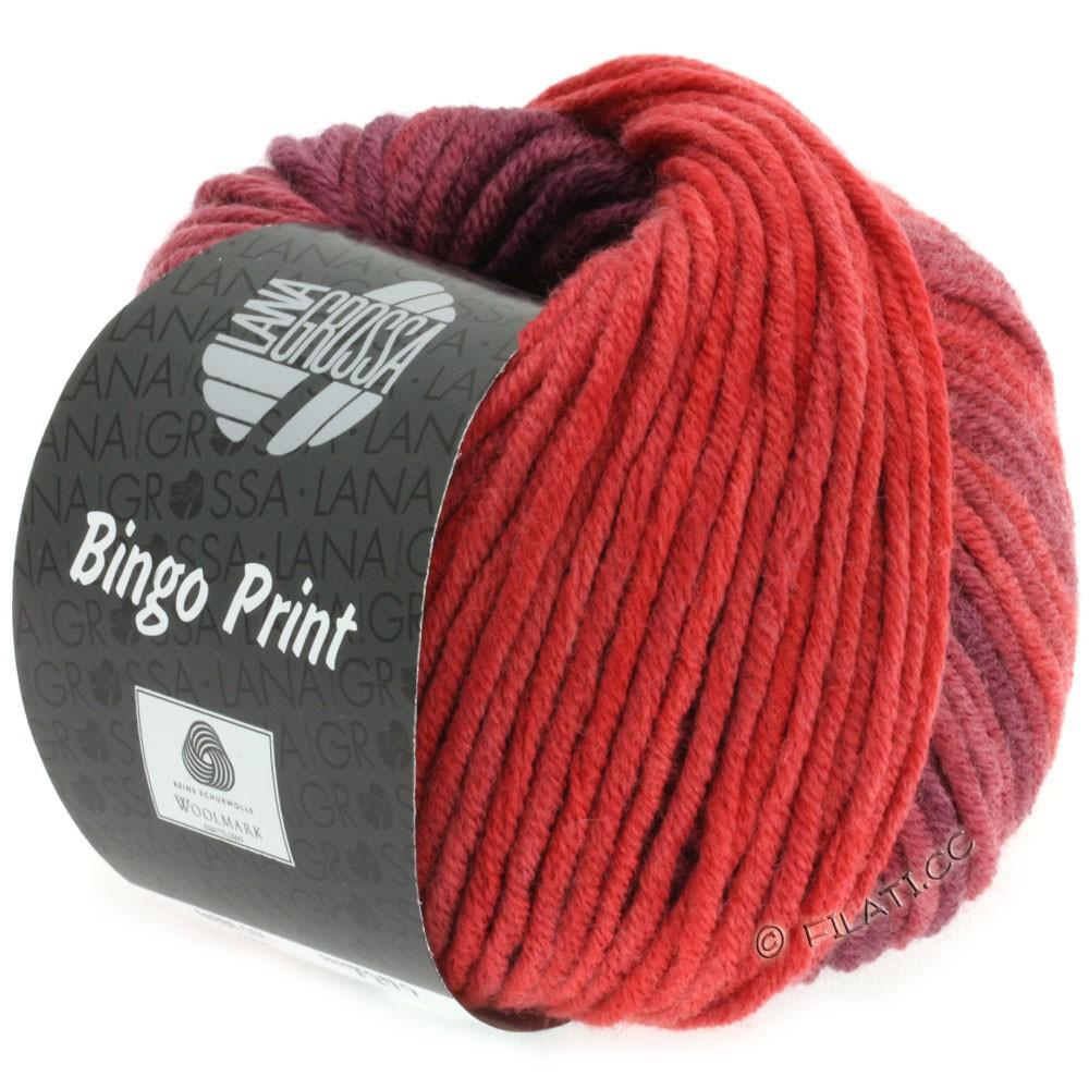 Lana Grossa BINGO Print | 613-teglstensrød/burgund/tomatrød