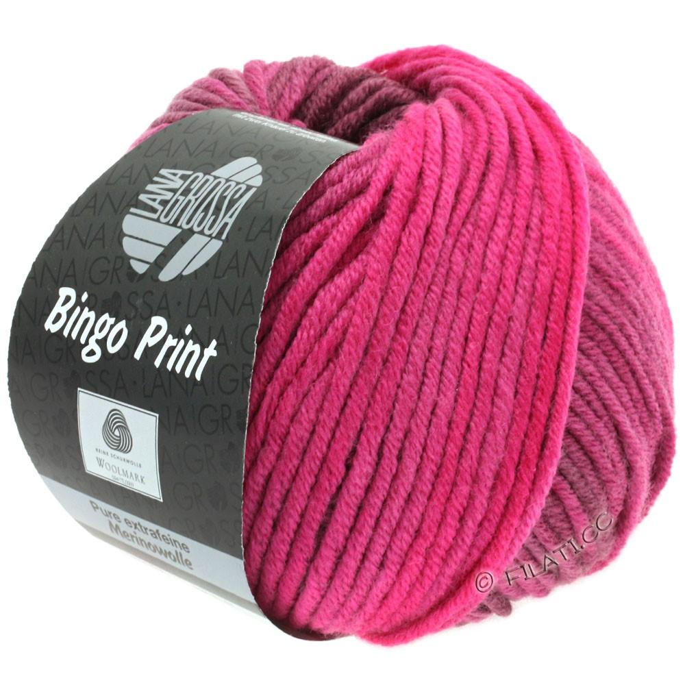 Lana Grossa BINGO Print | 618-pink/burgund/hyldebær