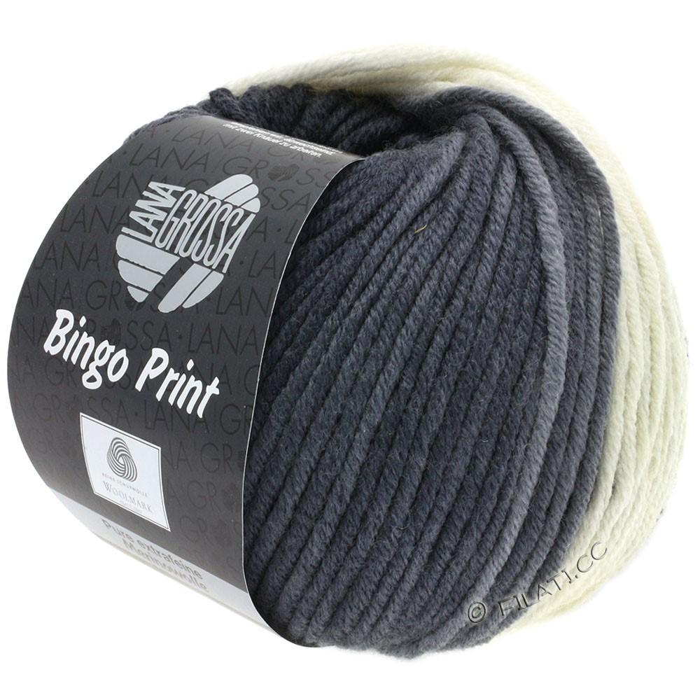 Lana Grossa BINGO Print | 622-rå hvid/lysegrå/grå/antracit