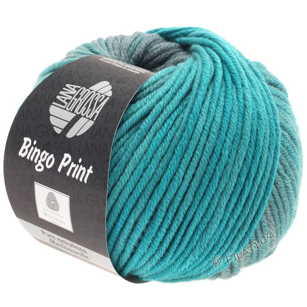 Lana Grossa BINGO Print | 625-petrol grøn/petrol/grå