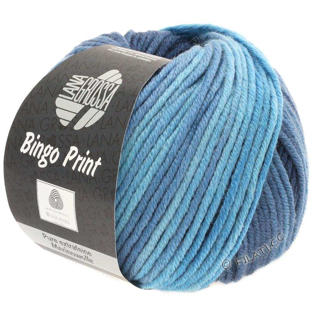 Lana Grossa BINGO Print | 626-lyseblå/gråblå/natblå