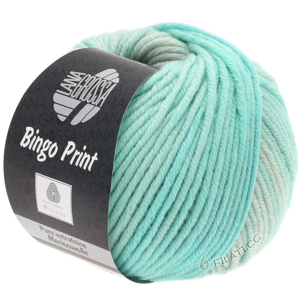 Lana Grossa BINGO Print | 627-bleggrøn/sartgrøn/sølvgrå