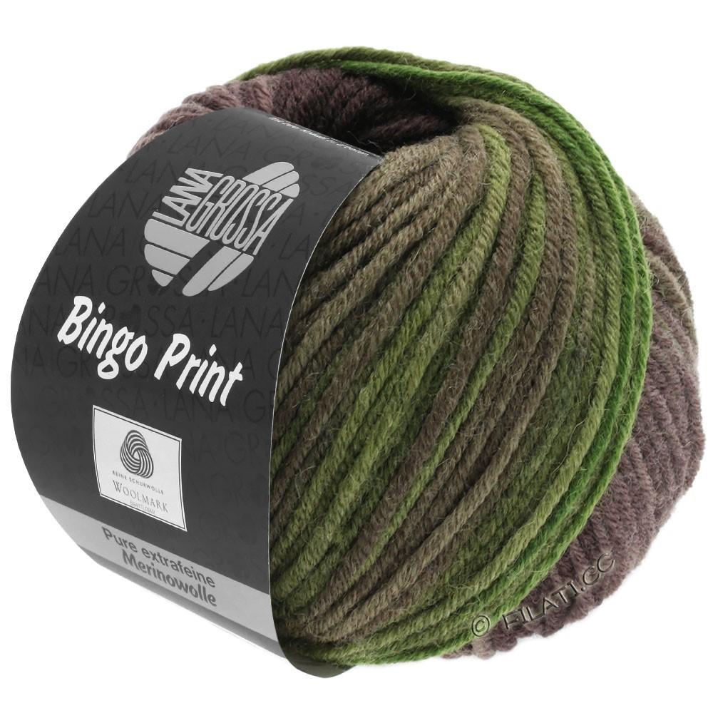 Lana Grossa BINGO Print | 632-kaki/oliven/gråbrun