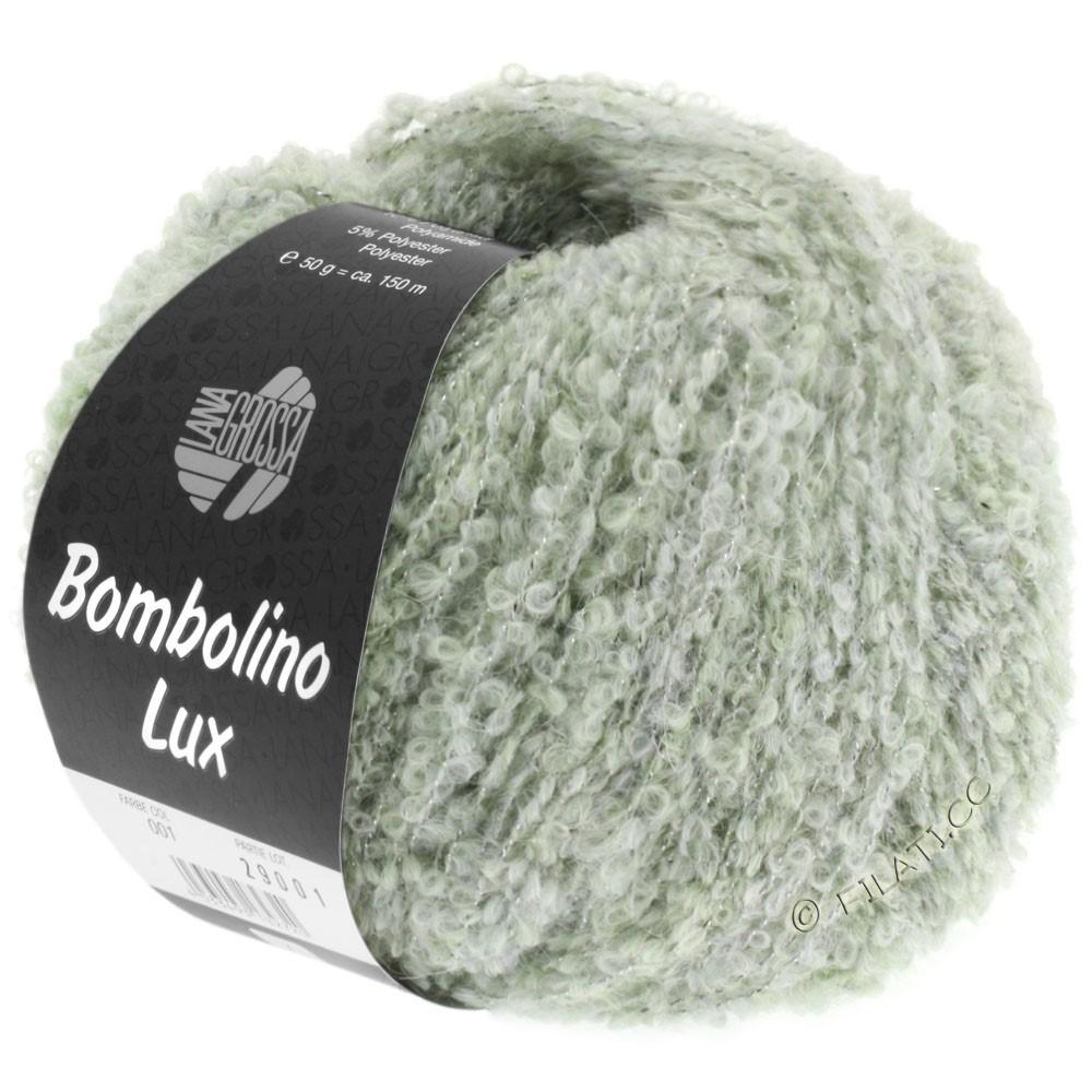 Lana Grossa BOMBOLINO Lux | 007-sartgrøn/sølv
