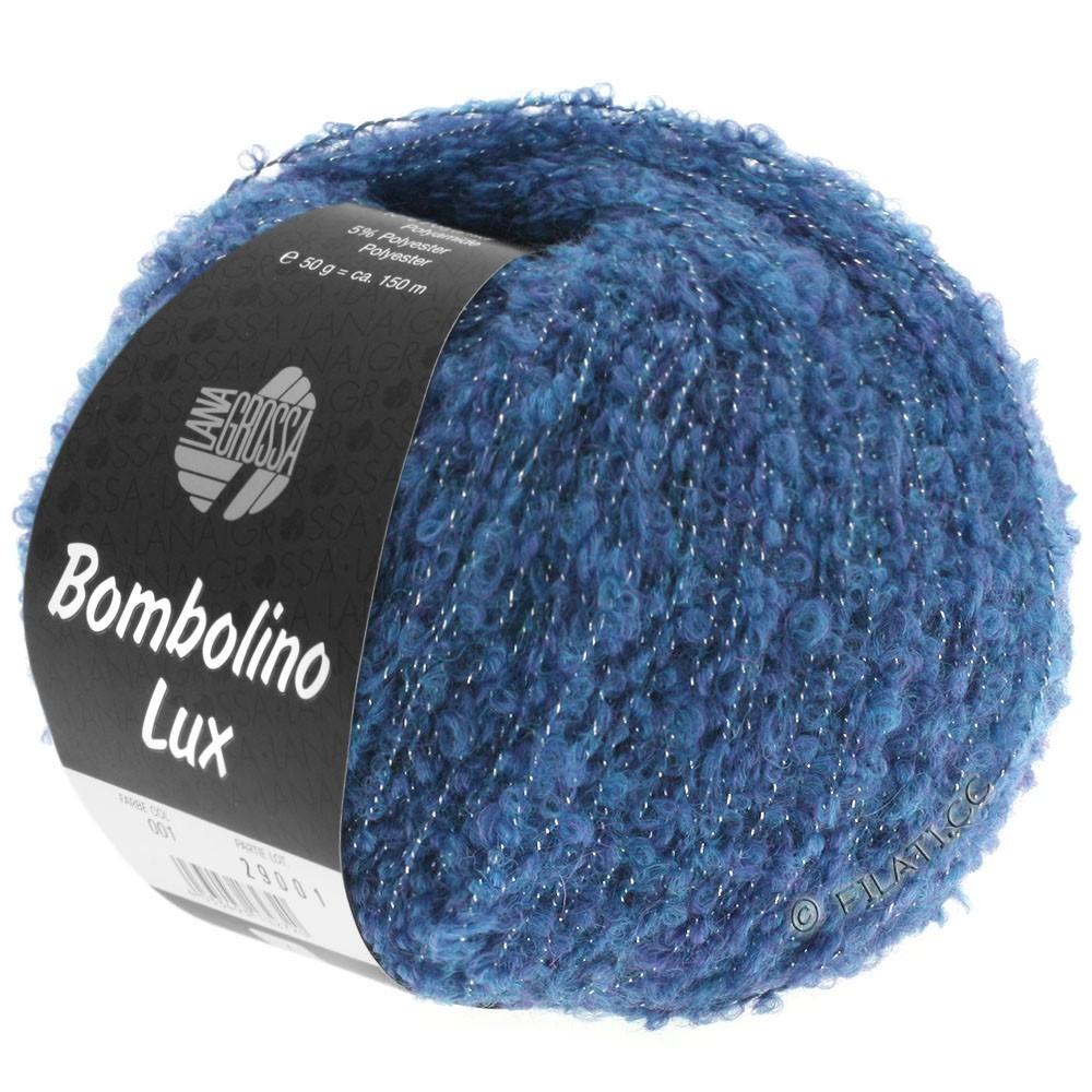 Lana Grossa BOMBOLINO Lux | 009-blå/sølv