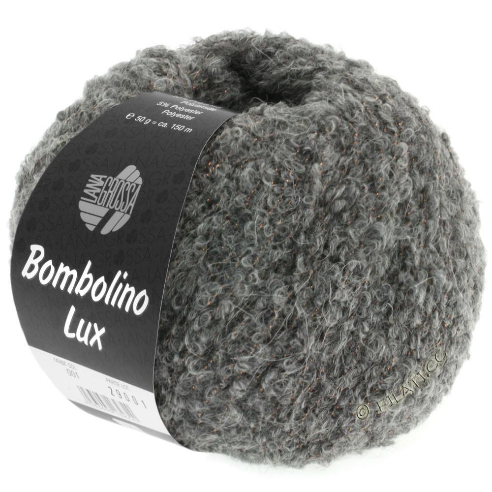 Lana Grossa BOMBOLINO Lux | 011-grå/kobber