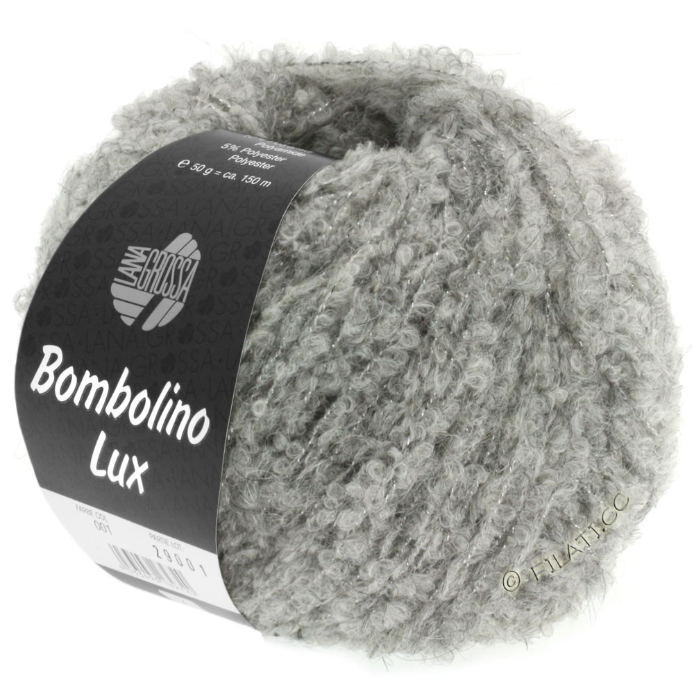 Lana Grossa BOMBOLINO Lux | 012-lysegrå/sølv