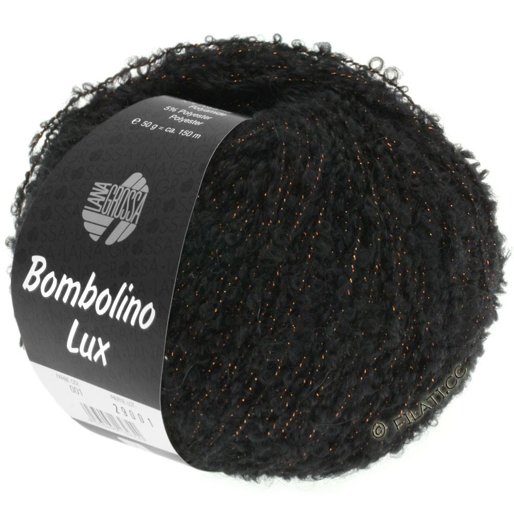 Lana Grossa BOMBOLINO Lux | 013-sort/kobber