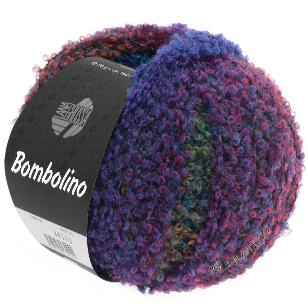 Lana Grossa BOMBOLINO Degradé | 101-blå/purpur/smaragd/lys rød