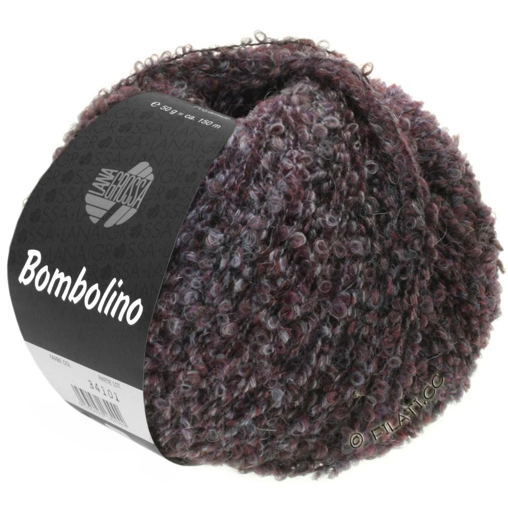Lana Grossa BOMBOLINO Degradé | 106-grå/antracit/burgund