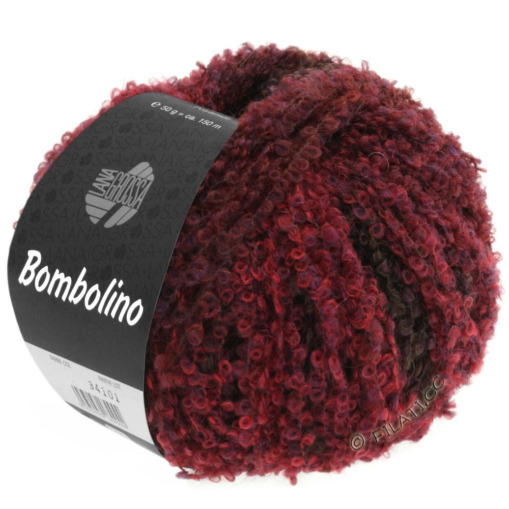 Lana Grossa BOMBOLINO Degradé | 108-rød/violet/brunrød