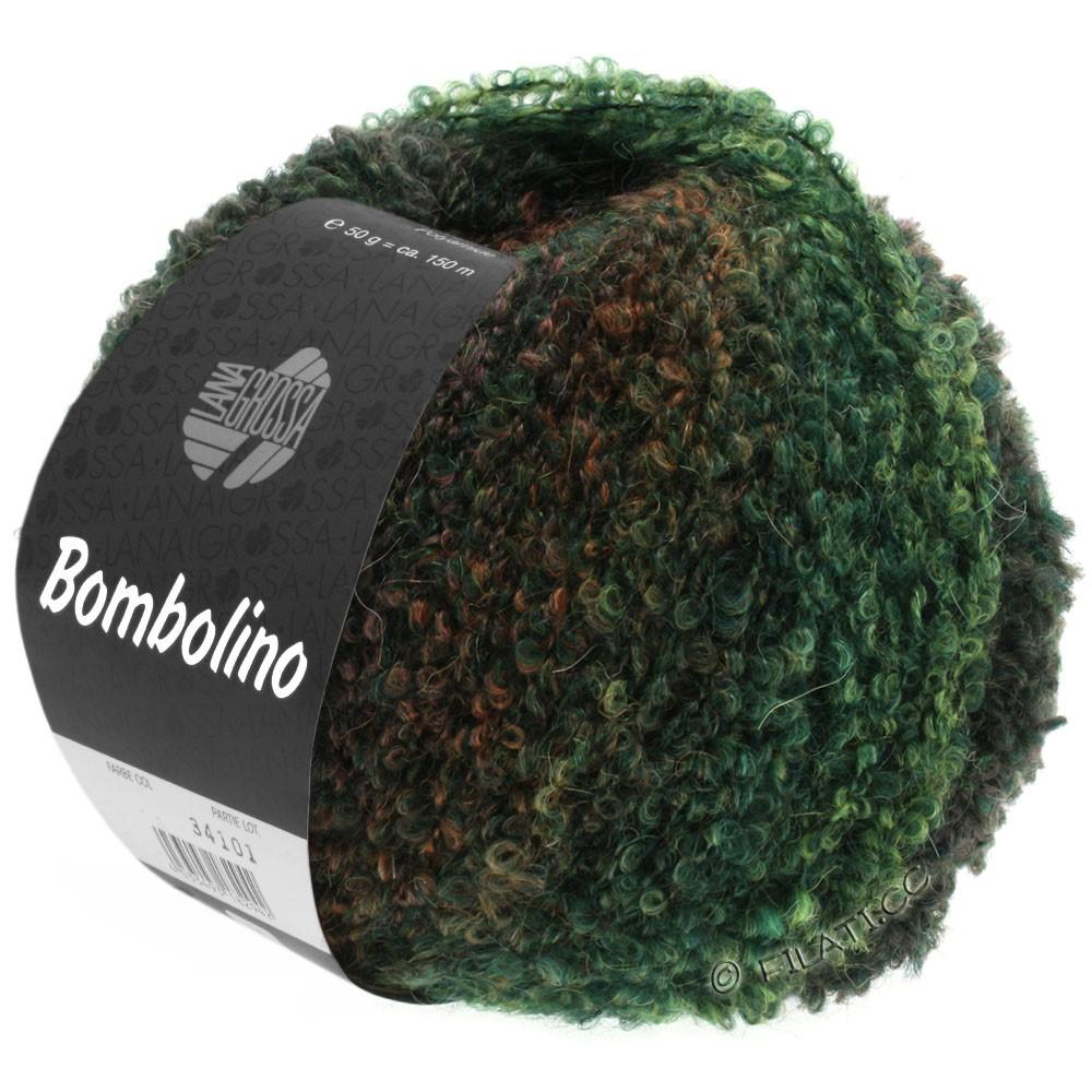 Lana Grossa BOMBOLINO Degradé | 109-grøn/gran/rødbrun