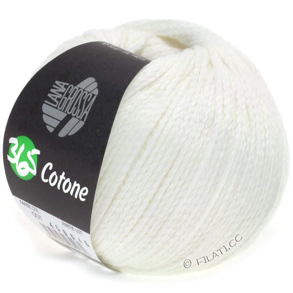 Lana Grossa 365 COTONE | 01-hvid