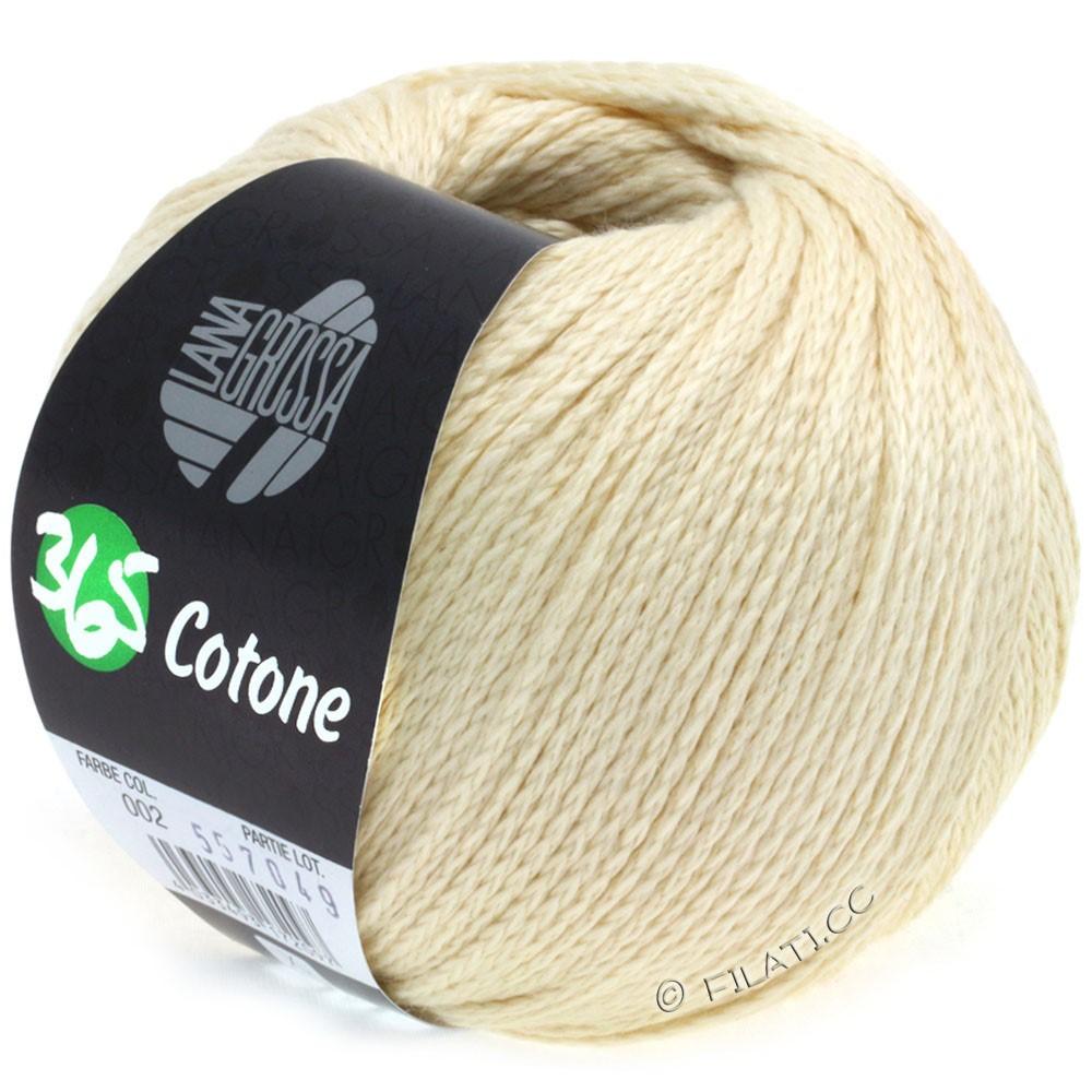 Lana Grossa 365 COTONE   02-vanilje