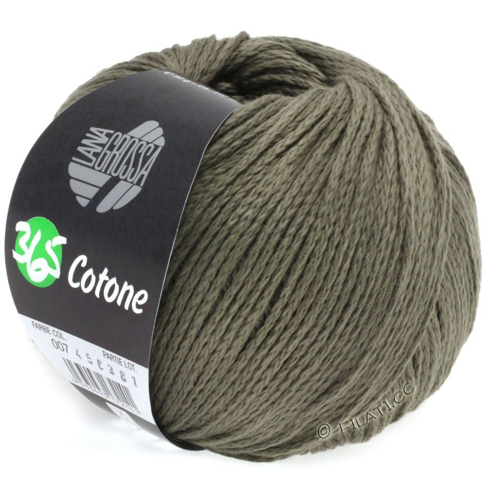 Lana Grossa 365 COTONE   07-gråbrun