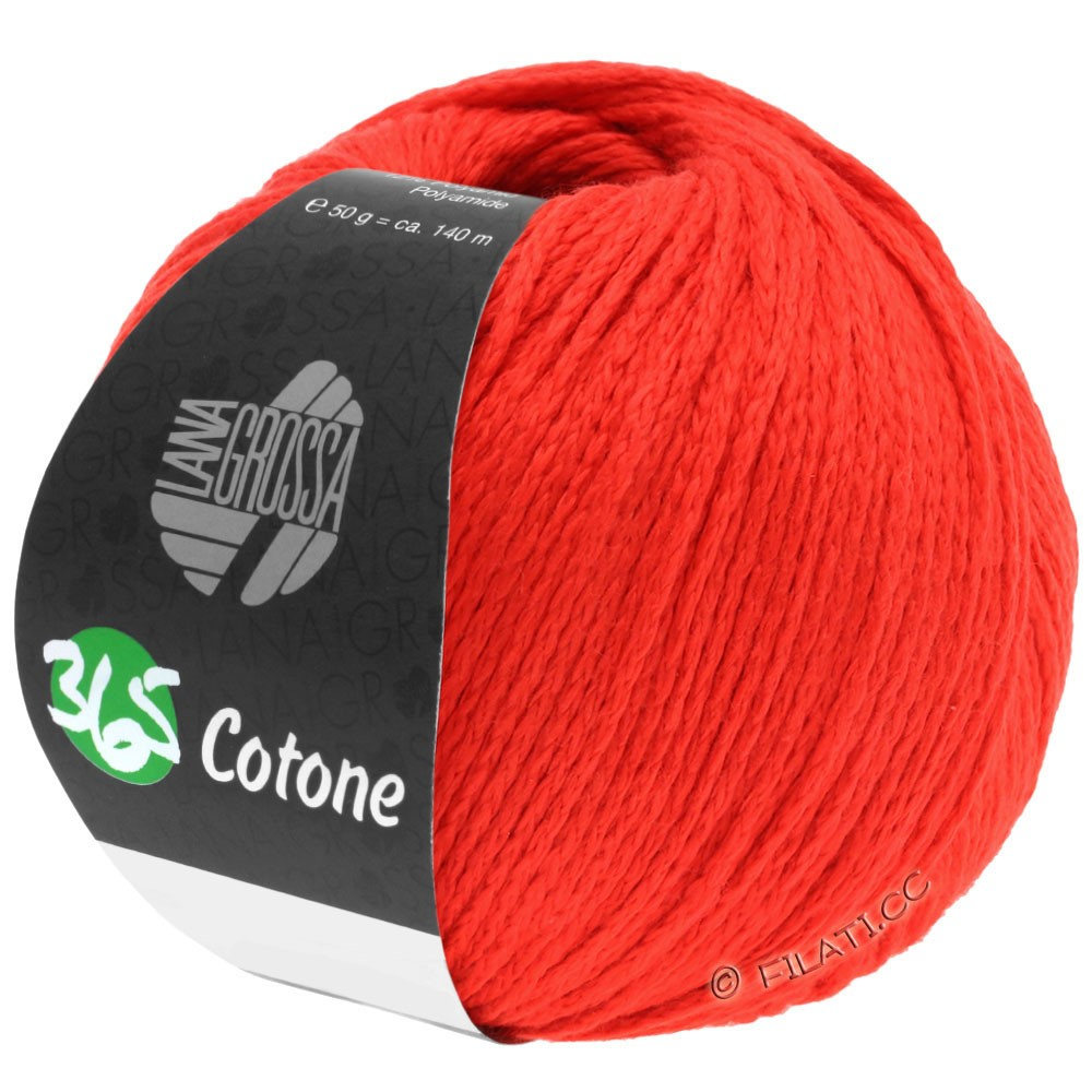 Lana Grossa 365 COTONE | 50-sukkerroer rød