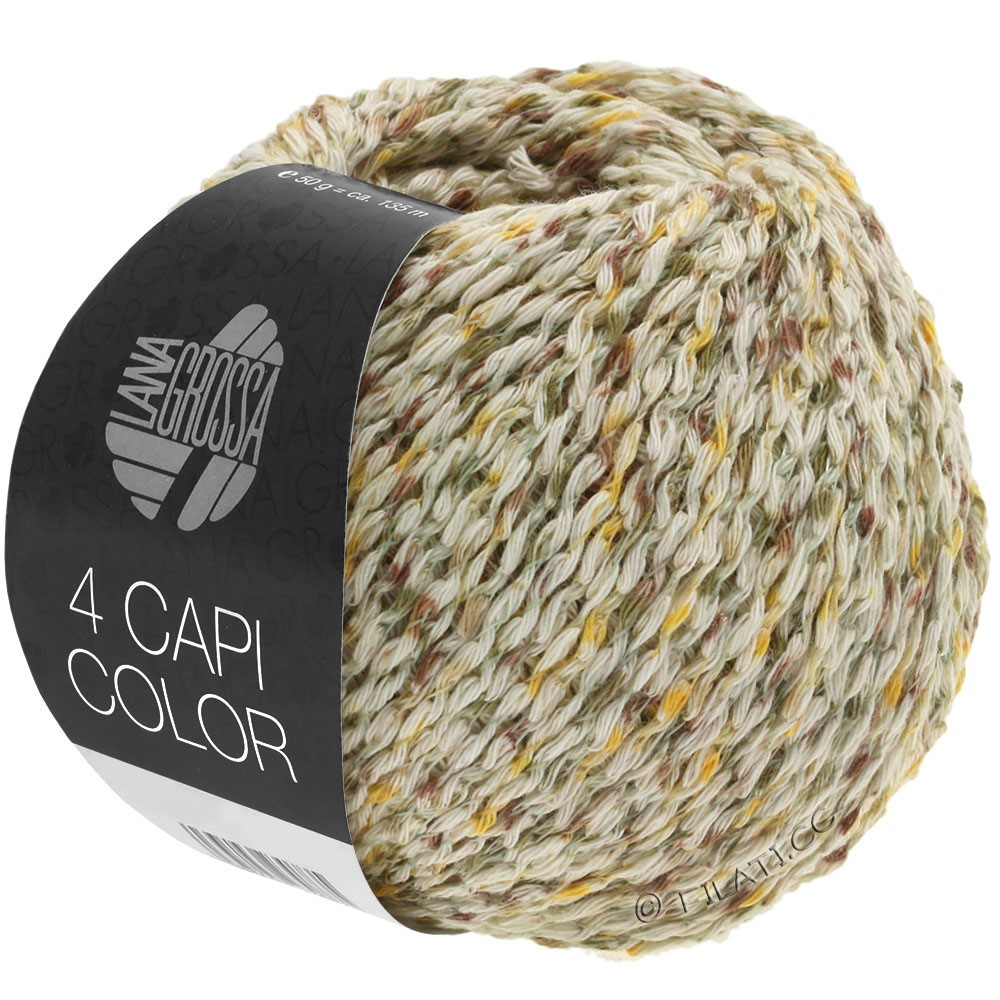 Lana Grossa 4 CAPI Color | 102-natur/gul/kaki/brun