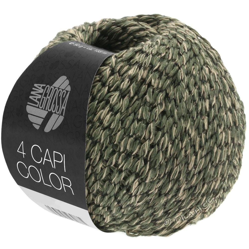 Lana Grossa 4 CAPI Color | 103-sand/jæger grøn