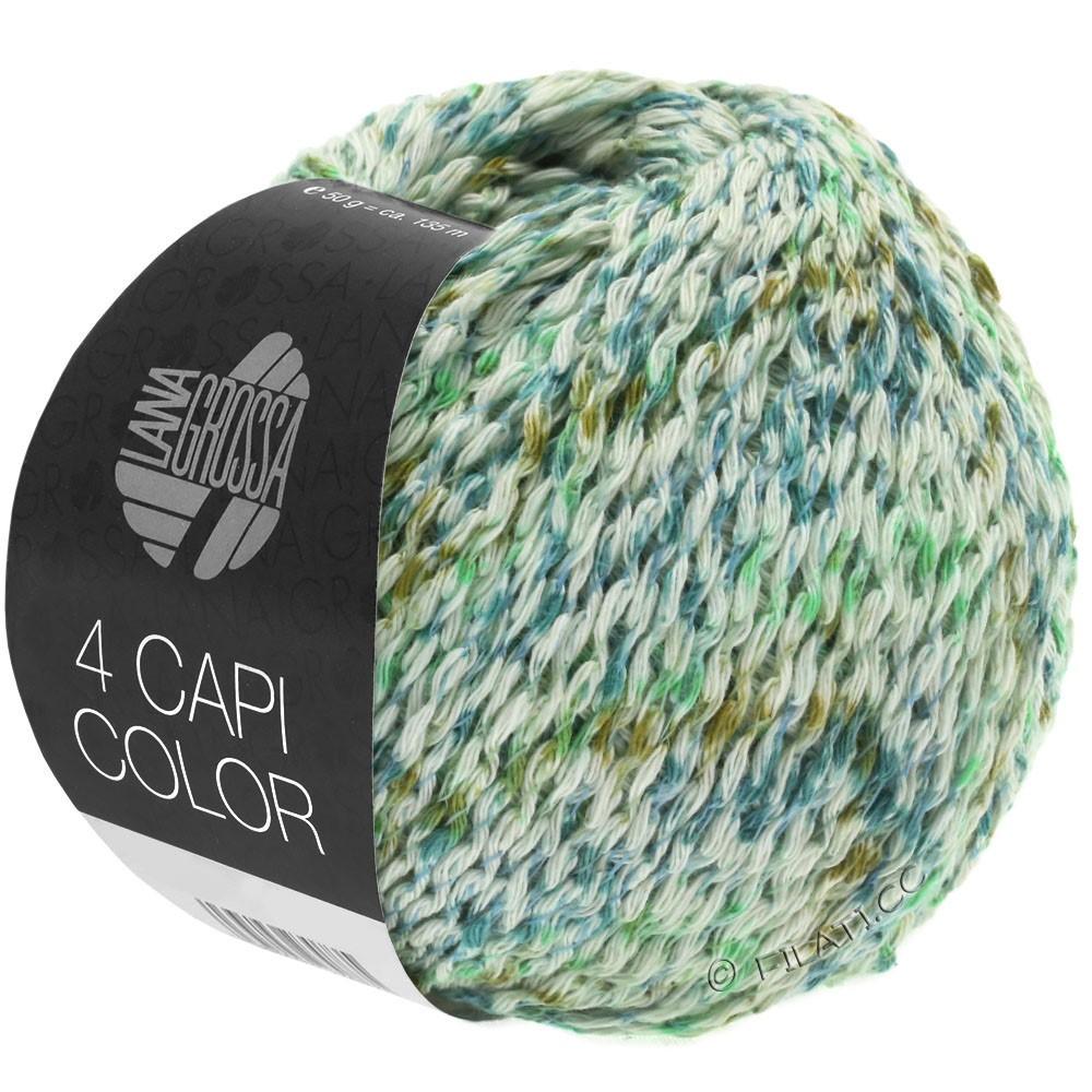 Lana Grossa 4 CAPI Color | 104-natur/jade-grønne/turkis/oliven
