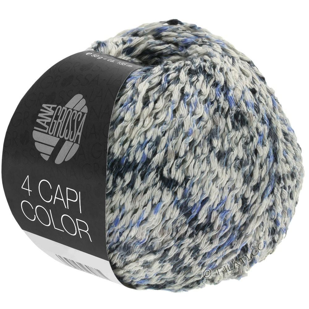 Lana Grossa 4 CAPI Color | 107-natur/jeans/mørkeblå/grå