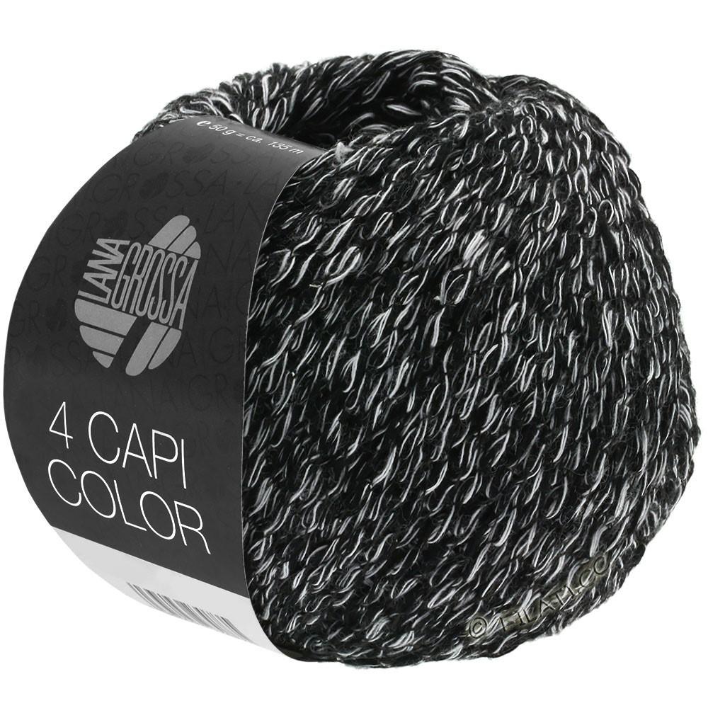 Lana Grossa 4 CAPI Color | 108-sort/hvid