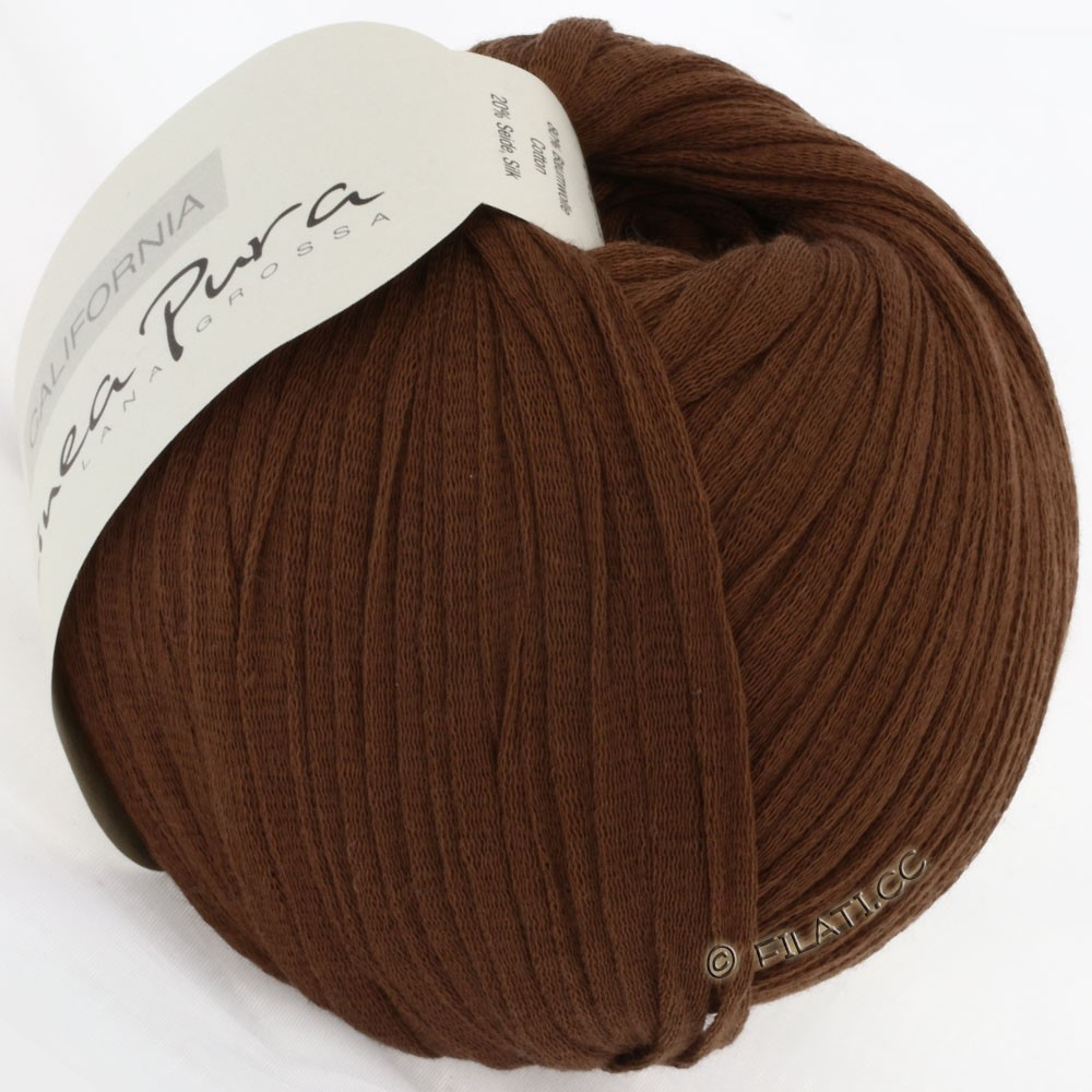 Lana Grossa CALIFORNIA Uni/Print (Linea Pura) | 009-brun