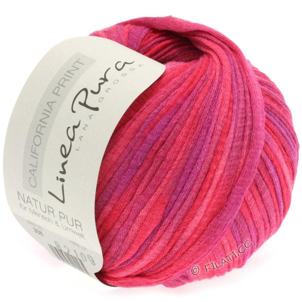 Lana Grossa CALIFORNIA Uni/Print (Linea Pura) | 308-pink/nellike/purpur