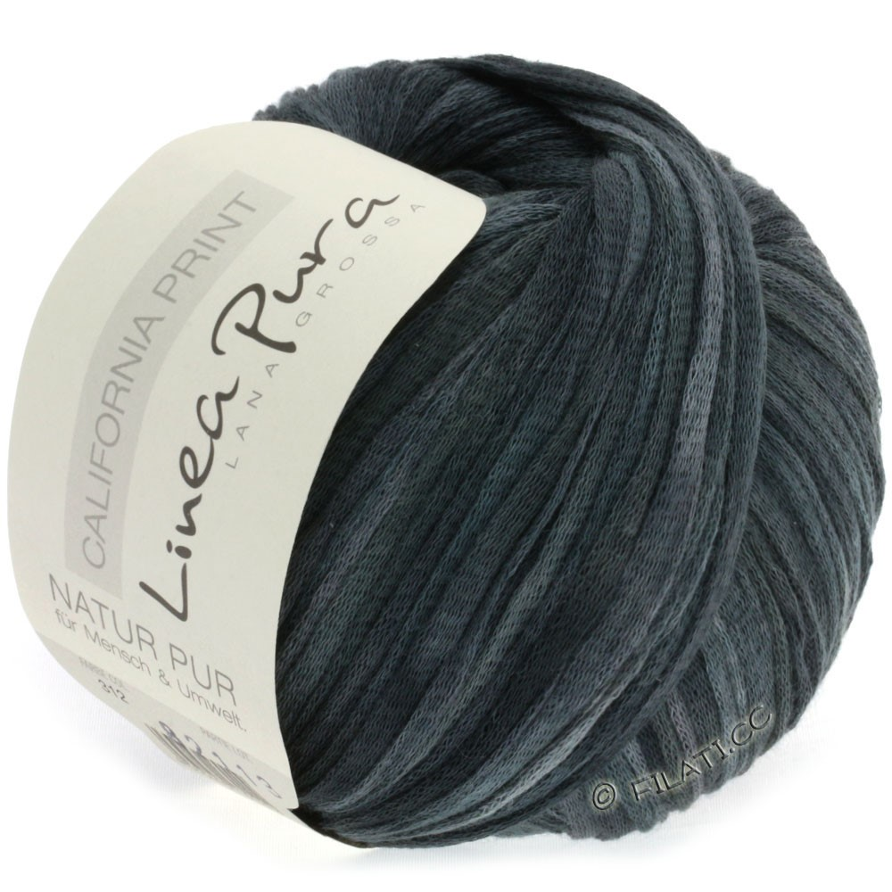 Lana Grossa CALIFORNIA Uni/Print (Linea Pura) | 312-lysegrå/mørkegrå/sort