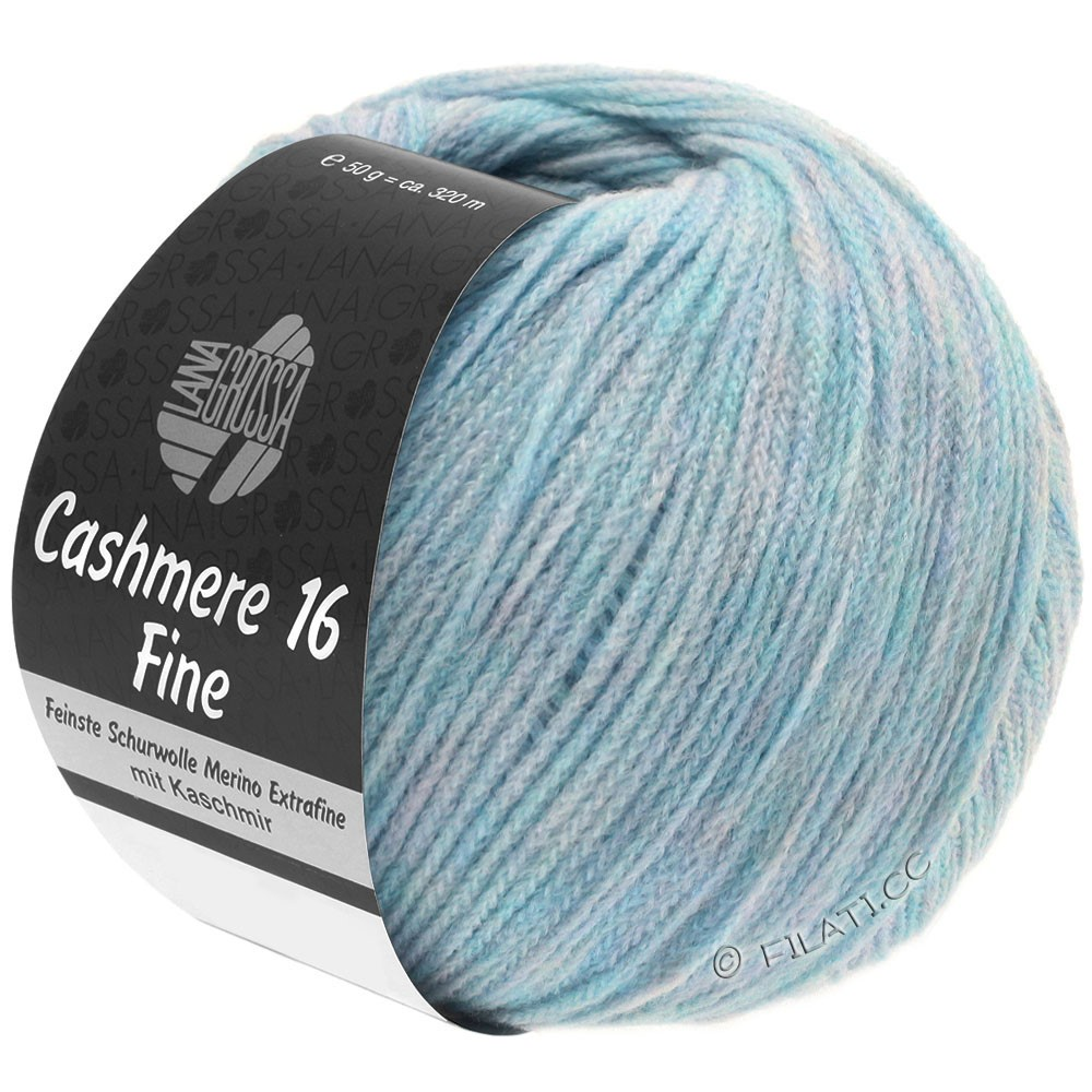 Lana Grossa CASHMERE 16 FINE Uni/Degradé | 003-lyseblå