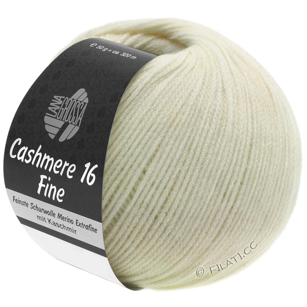 Lana Grossa CASHMERE 16 FINE Uni/Degradé | 009-rå hvid