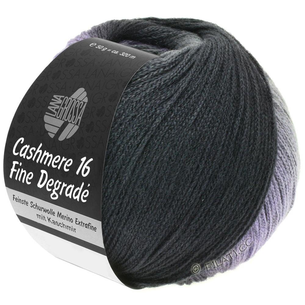 Lana Grossa CASHMERE 16 FINE Uni/Degradé | 102-mørkegrå/antracit/sort