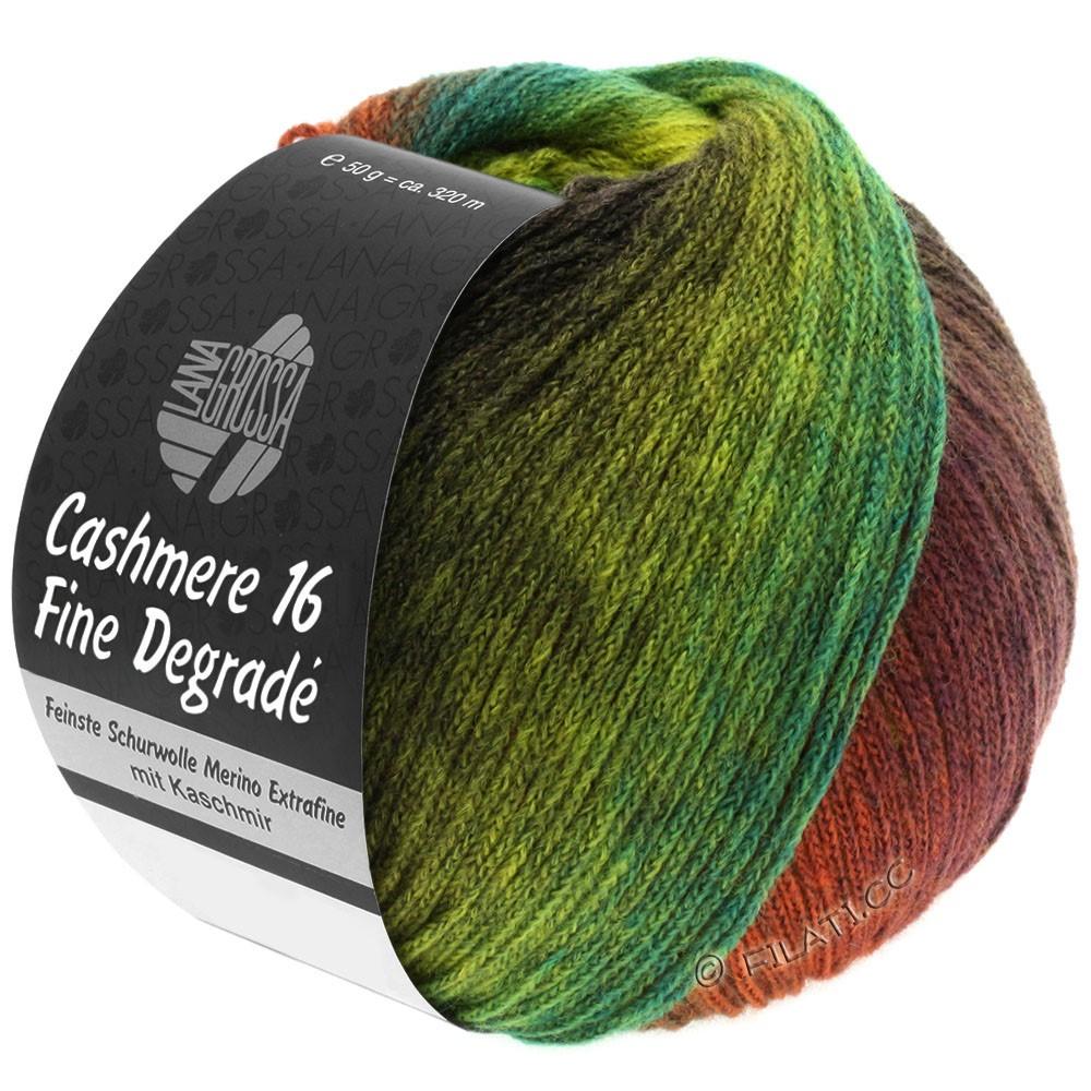 Lana Grossa CASHMERE 16 FINE Uni/Degradé | 103-rødbrun/kaki/gulgrøn/majgrøn/brombær