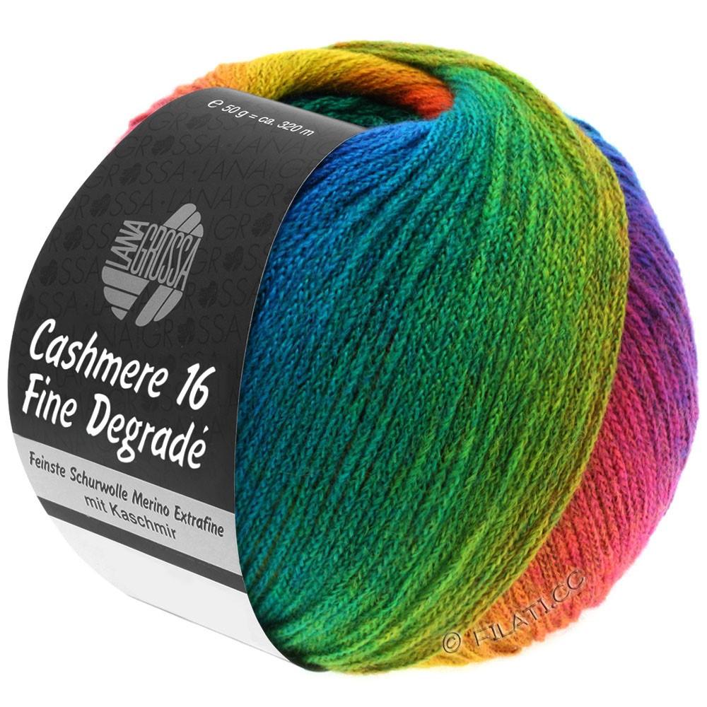 Lana Grossa CASHMERE 16 FINE Uni/Degradé | 104-sennepgul/ruste/ensian blå/turkisblå/smaragd/rødviolet