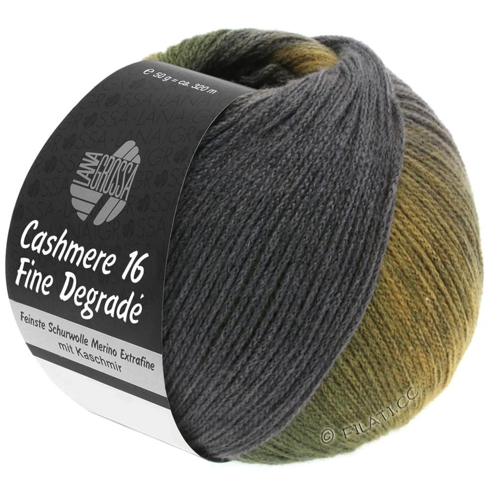 Lana Grossa CASHMERE 16 FINE Uni/Degradé | 108-rav/kaki/mørkegrøn/mørkegrå/grå violet