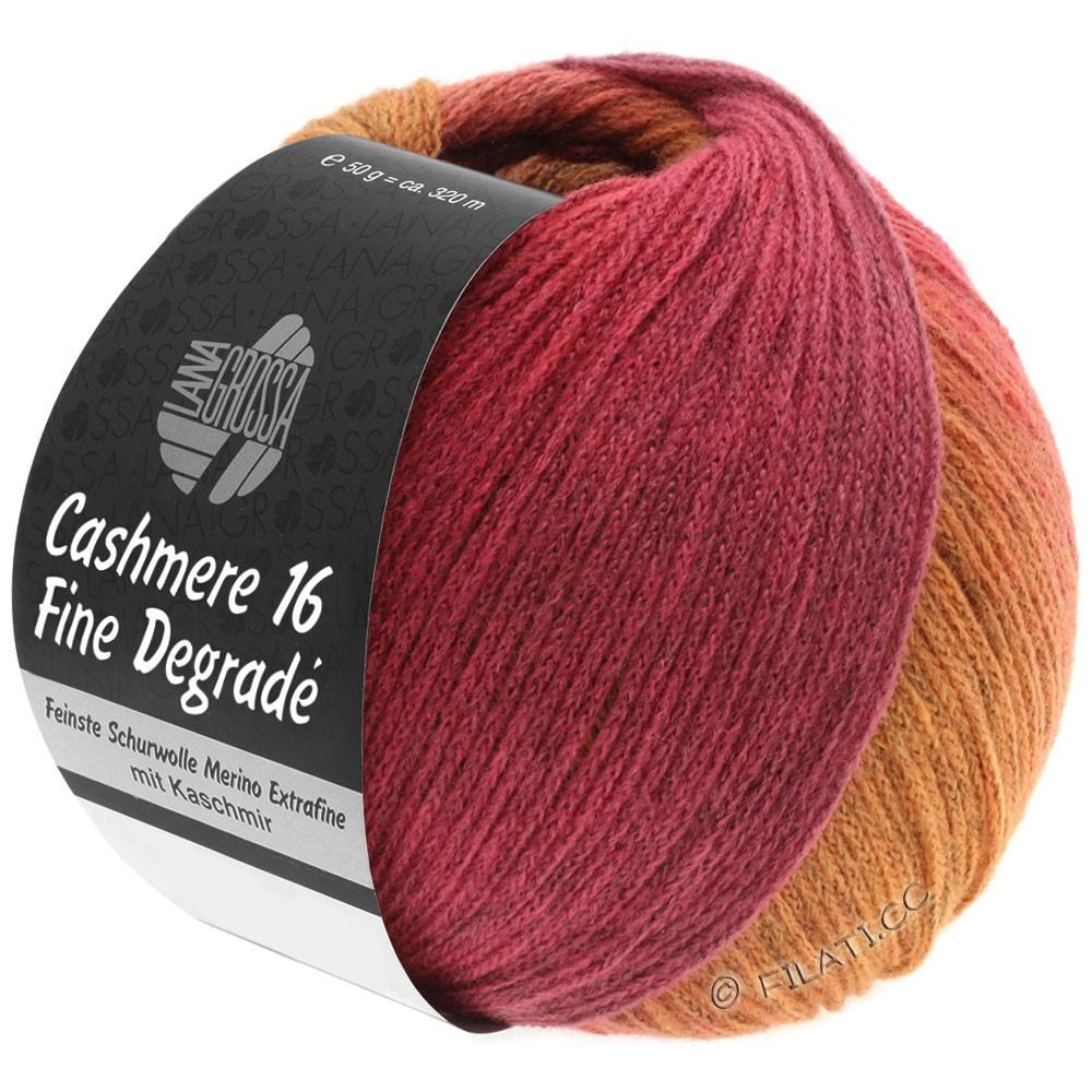 Lana Grossa CASHMERE 16 FINE Uni/Degradé | 109-orange/pink/hindbær/gammelrosa