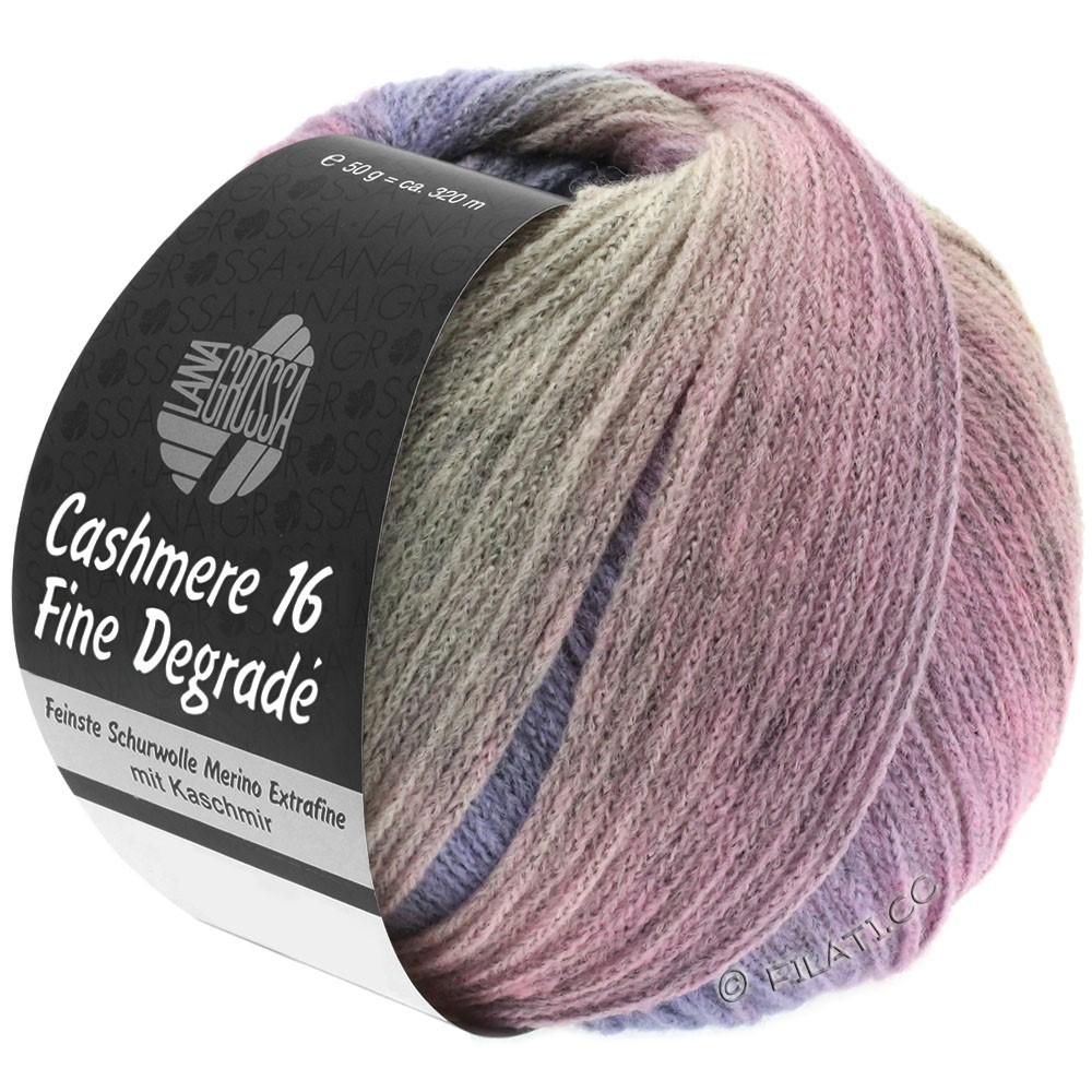 Lana Grossa CASHMERE 16 FINE Uni/Degradé | 110-grå rosa/purpur/rosé
