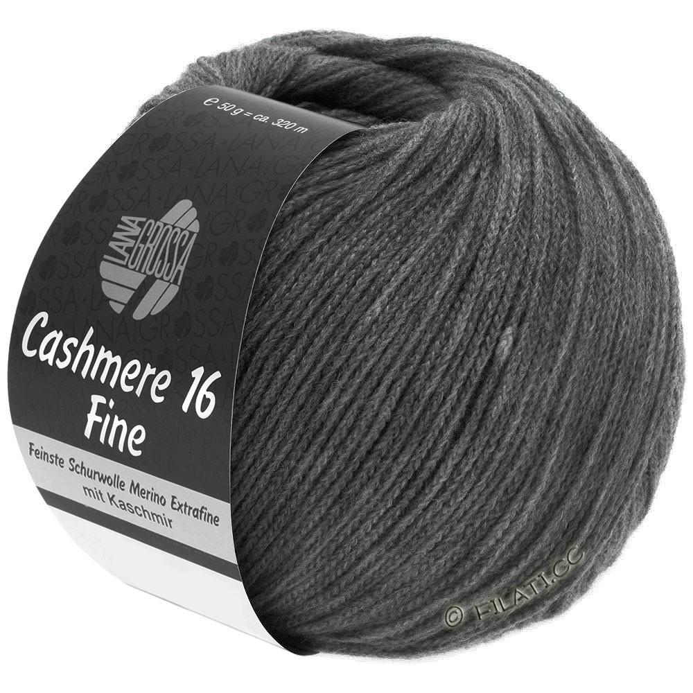 Lana Grossa CASHMERE 16 FINE Uni/Degradé | 016-mørkegrå