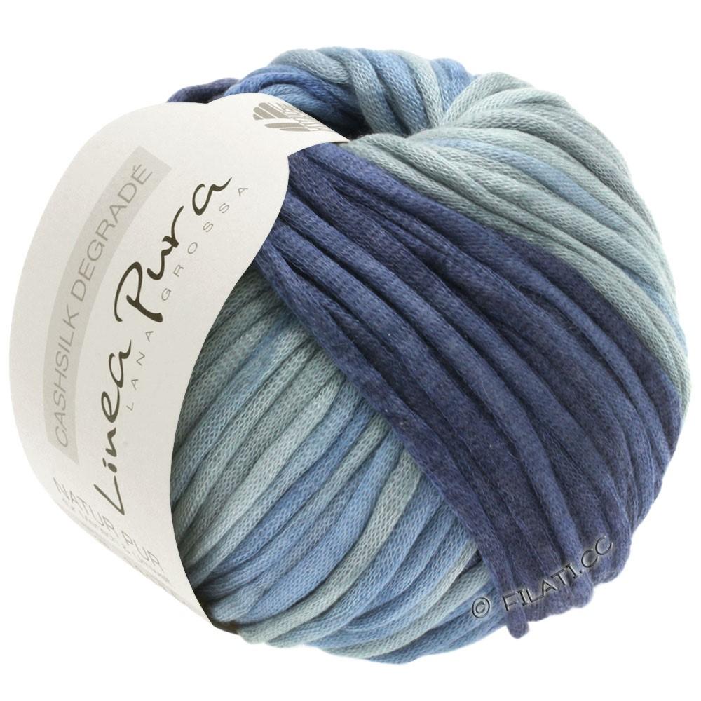 Lana Grossa CASHSILK Degradé (Linea Pura) | 111-blågrå/jeans/stålblå/natblå
