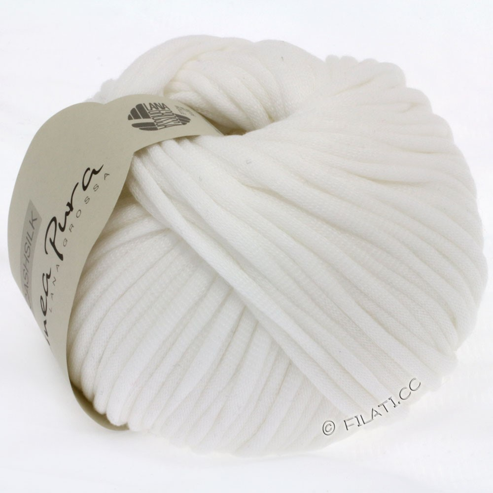 Lana Grossa CASHSILK (Linea Pura) | 07-hvid