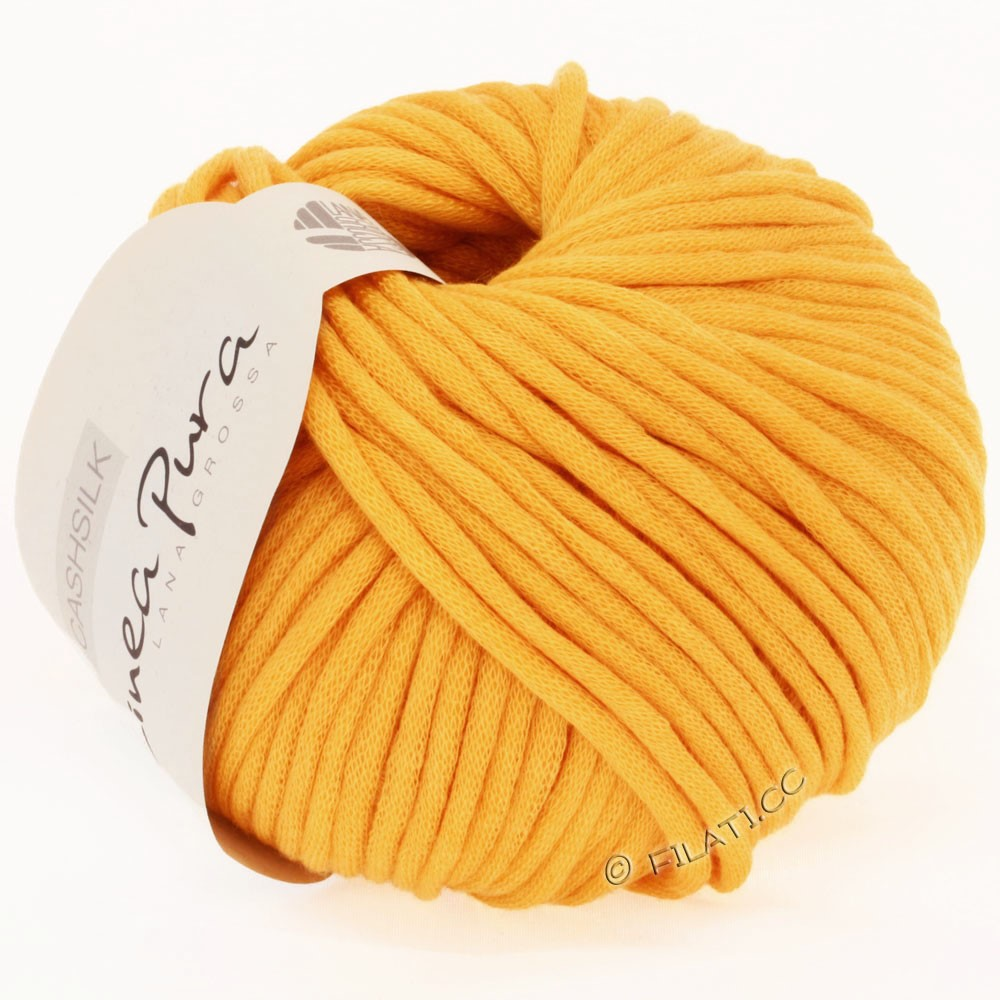 Lana Grossa CASHSILK (Linea Pura) | 28-æggeblomme gul